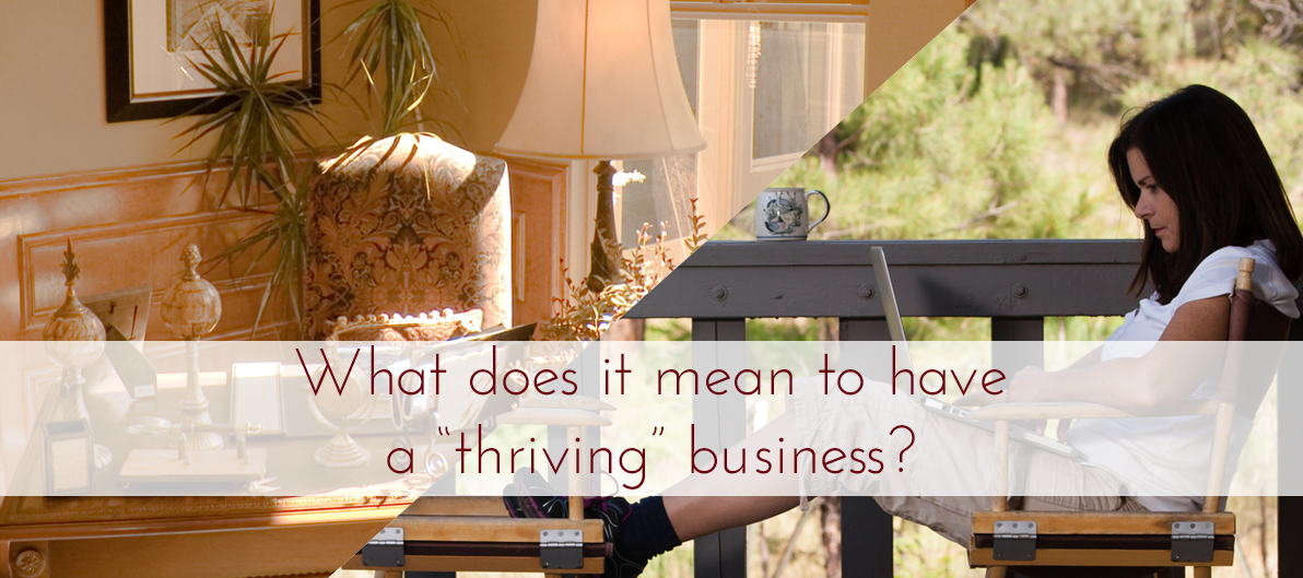 what does it mean to have a thriving business?